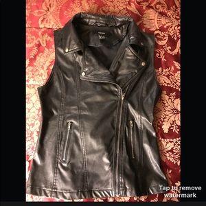 F21/ Faux leather biker Vest